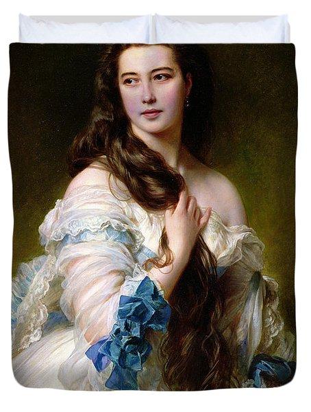 Portrait Of Madame Rimsky Korsakov Duvet Cover by Franz Xaver Winterhalter