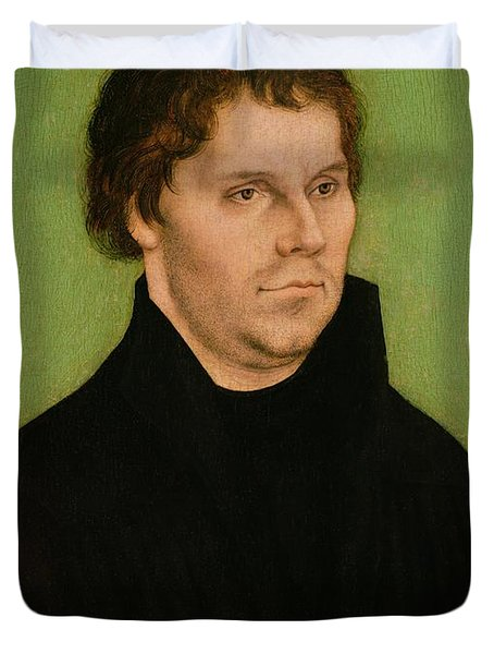 Portrait Of Martin Luther Duvet Cover by Lucas Cranach the Elder