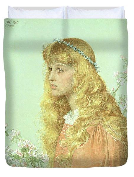 Portrait Of Miss Adele Donaldson, 1897 Duvet Cover by Anthony Frederick Augustus Sandys