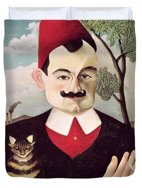 Portrait Of Pierre Loti Duvet Cover by Henri Rousseau