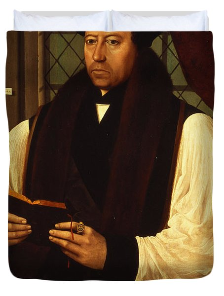 Portrait Of Thomas Cranmer Duvet Cover by Gerlach Flicke