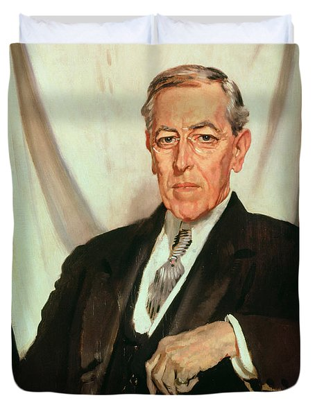 Portrait Of Woodrow Wilson Duvet Cover by Sir William Orpen