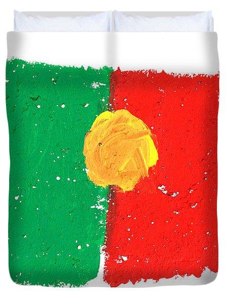Portuguese Flag Duvet Cover by Gaspar Avila