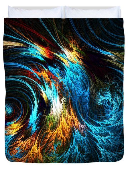 Poseidon's Wrath Duvet Cover by Lourry Legarde