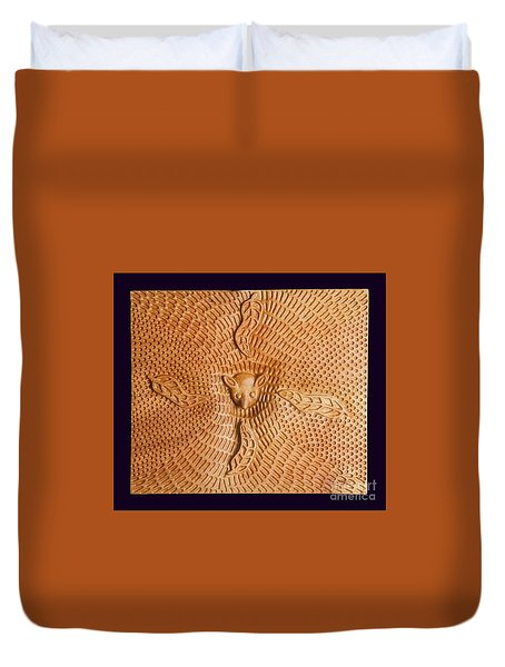 Possum And Tree Habitat Duvet Cover by Clifford Madsen