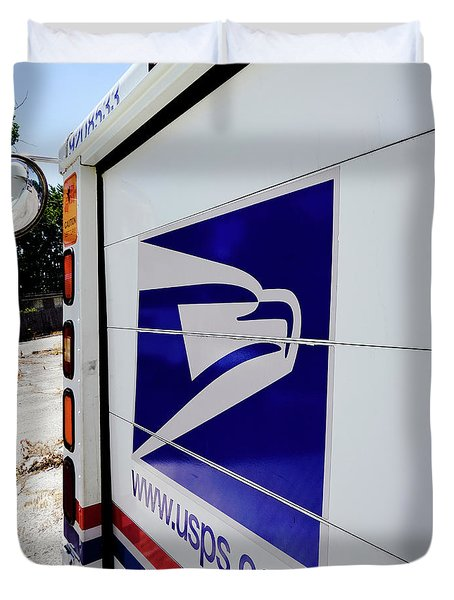Post Office Truck Duvet Cover by Kenneth Lempert