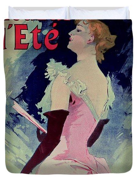Poster Advertising Alcazar Dete Starring Kanjarowa  Duvet Cover by Jules Cheret