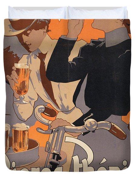 Poster Advertising Phenix Beer Duvet Cover by Adolf Hohenstein