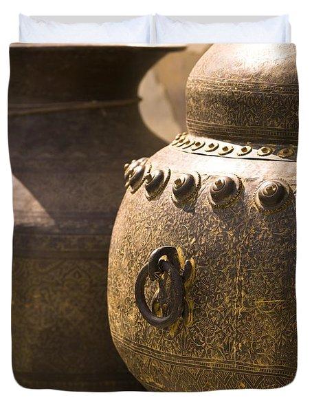 Pots, Jaipur, India Duvet Cover by Keith Levit