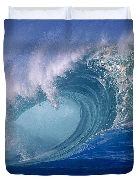 Powerful Surf Duvet Cover by Ron Dahlquist - Printscapes