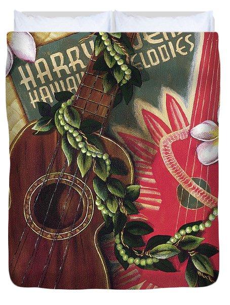 Practice My Uke Duvet Cover by Sandra Blazel - Printscapes