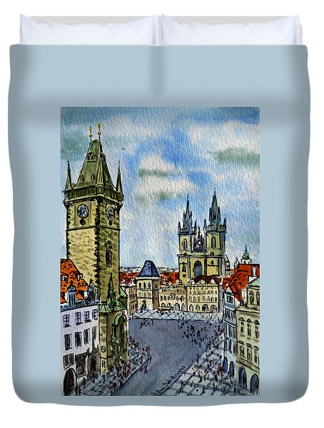 Prague Czech Republic Duvet Cover by Irina Sztukowski