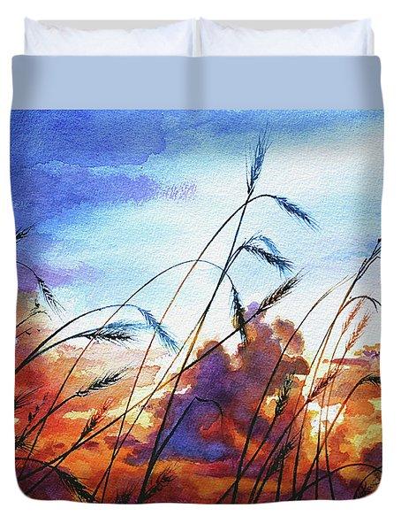 Prairie Sky Duvet Cover by Hanne Lore Koehler