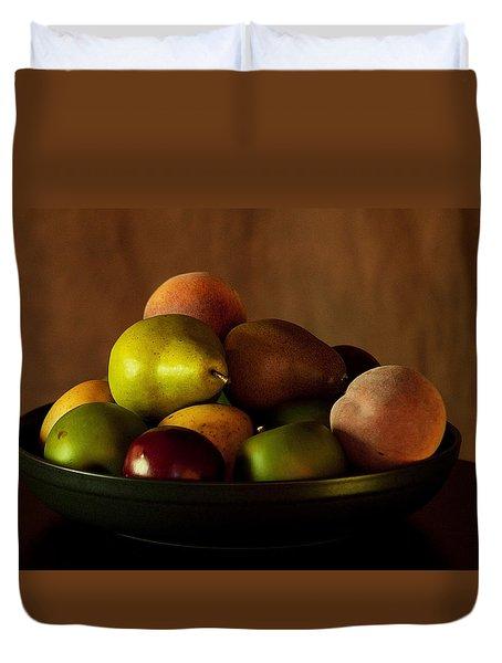 Precious Fruit Bowl Duvet Cover by Sherry Hallemeier