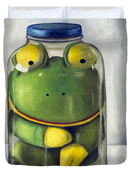 Preserving Childhood Upclose Duvet Cover by Leah Saulnier The Painting Maniac