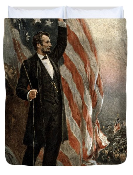 President Abraham Lincoln - American Flag Duvet Cover by International  Images