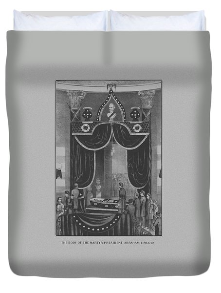 President Abraham Lincoln Lying In State Duvet Cover by War Is Hell Store