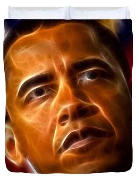 President Barack Obama Duvet Cover by Pamela Johnson