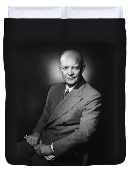 President Dwight Eisenhower Duvet Cover by War Is Hell Store
