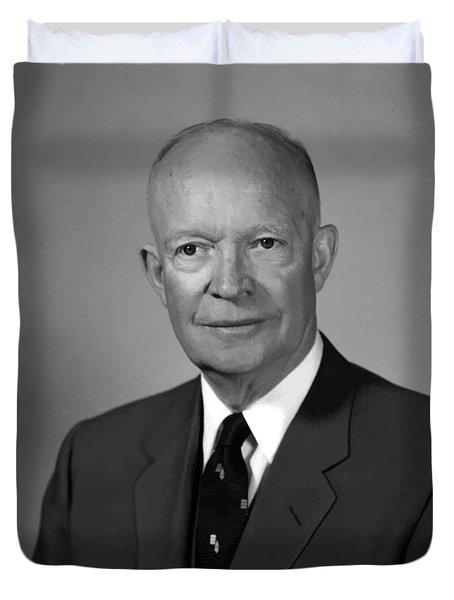President Eisenhower Duvet Cover by War Is Hell Store
