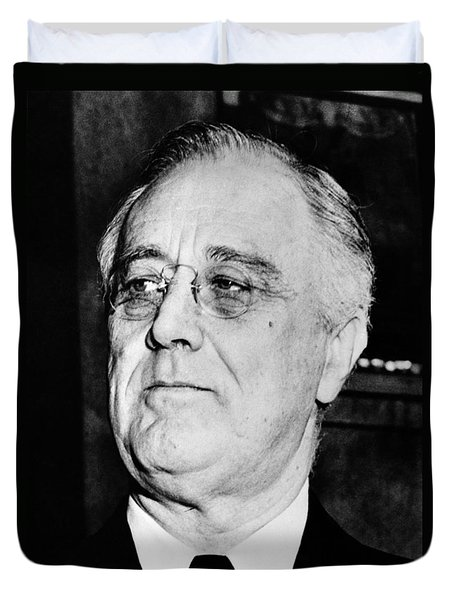 President Franklin Delano Roosevelt Duvet Cover by War Is Hell Store