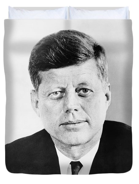 President John F. Kennedy Duvet Cover by War Is Hell Store