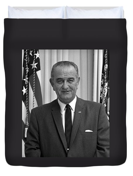 President Lyndon Johnson Duvet Cover by War Is Hell Store