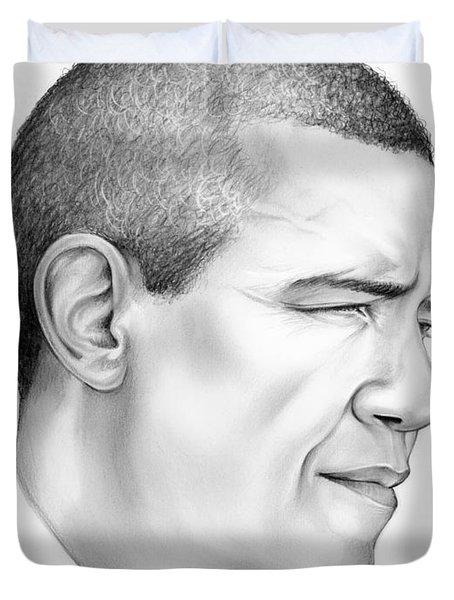 President Obama Duvet Cover by Greg Joens