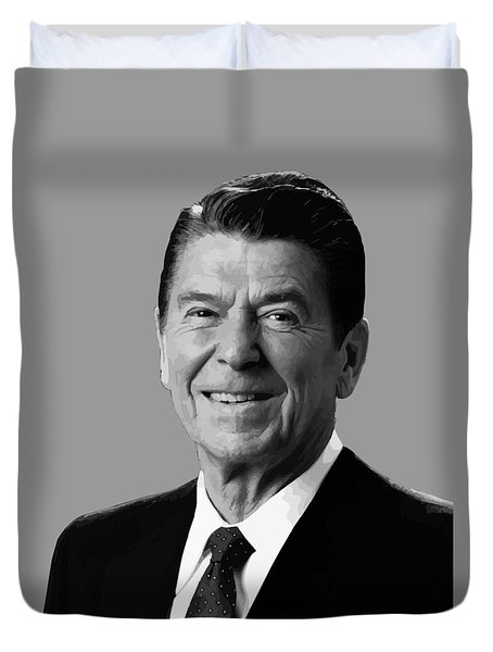 President Reagan Duvet Cover by War Is Hell Store