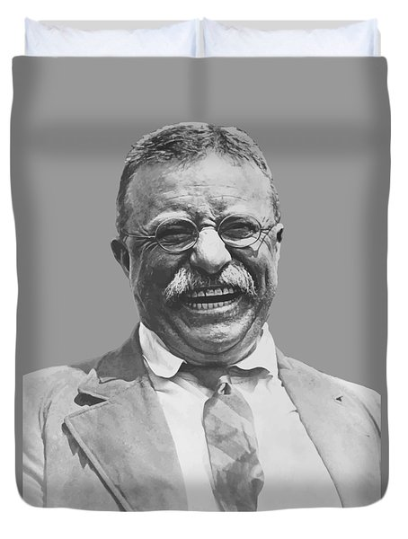 President Teddy Roosevelt Duvet Cover by War Is Hell Store
