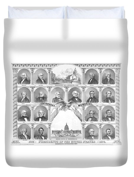 Presidents Of The United States 1776-1876 Duvet Cover by War Is Hell Store