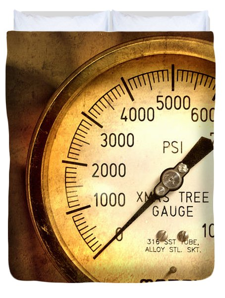Pressure Gauge Duvet Cover by Charuhas Images