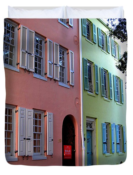 Pretty Lane In Charleston Duvet Cover by Susanne Van Hulst