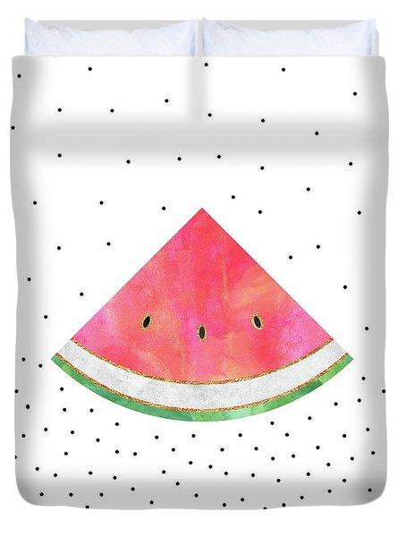 Pretty Watermelon Duvet Cover by Elisabeth Fredriksson