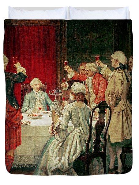 Prince Charles Edward Stuart In Edinburgh Duvet Cover by William Brassey Hole
