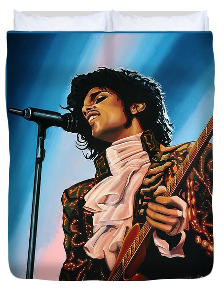 Prince Painting Duvet Cover by Paul Meijering