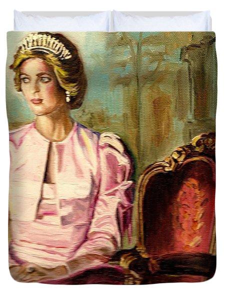Princess Diana The Peoples Princess Duvet Cover by Carole Spandau