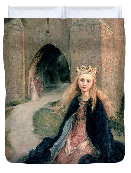 Princess With A Spindle Duvet Cover by Hanna Pauli