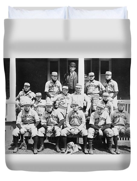 Princeton Baseball Team Duvet Cover by American School