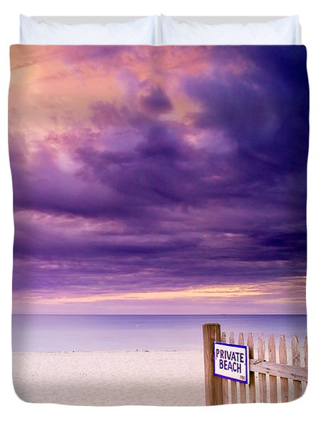Private Beach Cape Cod Duvet Cover by Matt Suess