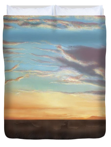 Private Sunrise.  Keep Out Duvet Cover by Albert Puskaric