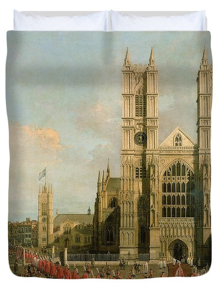 Procession Of The Knights Of The Bath Duvet Cover by Canaletto