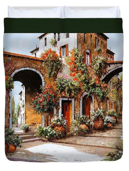 profumi di paese Duvet Cover by Guido Borelli
