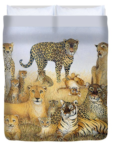 The Big Cats Duvet Cover by Pat Scott