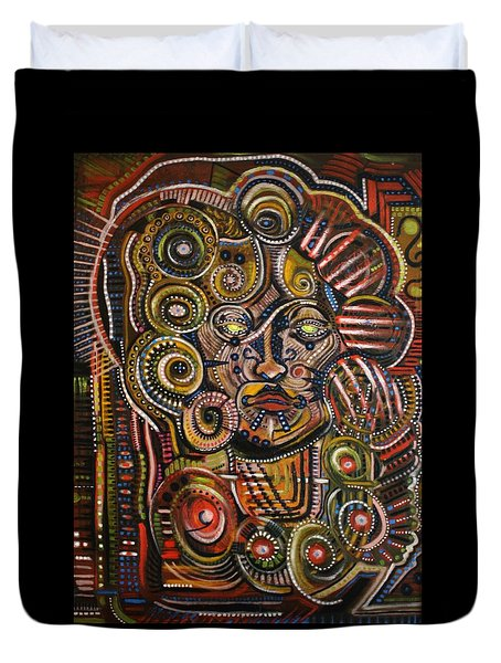 Psychotic Duvet Cover by Michael Kulick