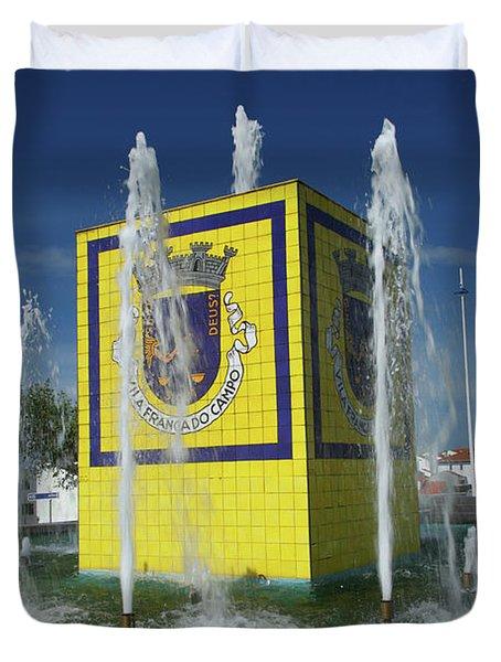 Public Fountain Duvet Cover by Gaspar Avila