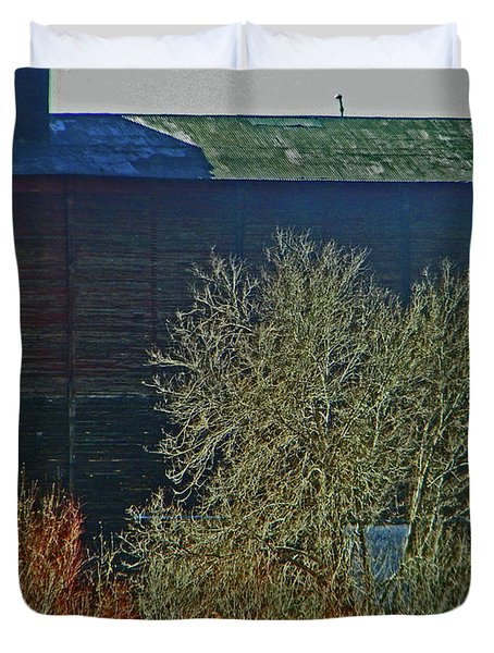 Pueblo Downtown-Sweeny Feed Mill 6 Duvet Cover by Lenore Senior