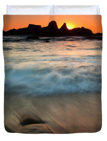 Pulled by the Tides Duvet Cover by Mike  Dawson