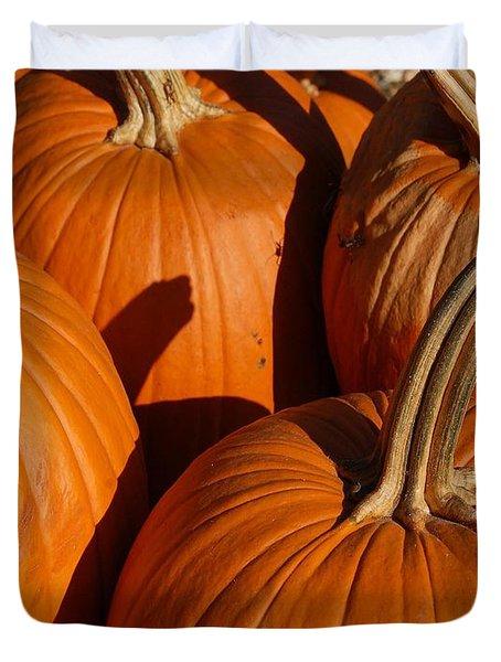 Pumpkins Duvet Cover by Michael Thomas