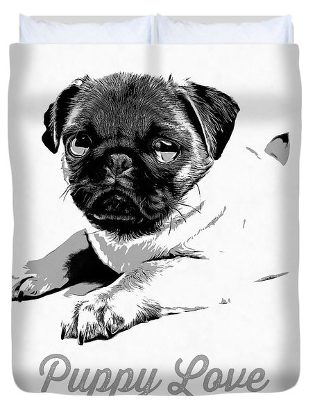 Puppy Love Duvet Cover by Edward Fielding